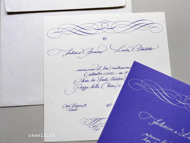 Partecipazioni Matrimonio Quanto Costano.Calligrafia E Lettering Partecipazioni Di Nozze