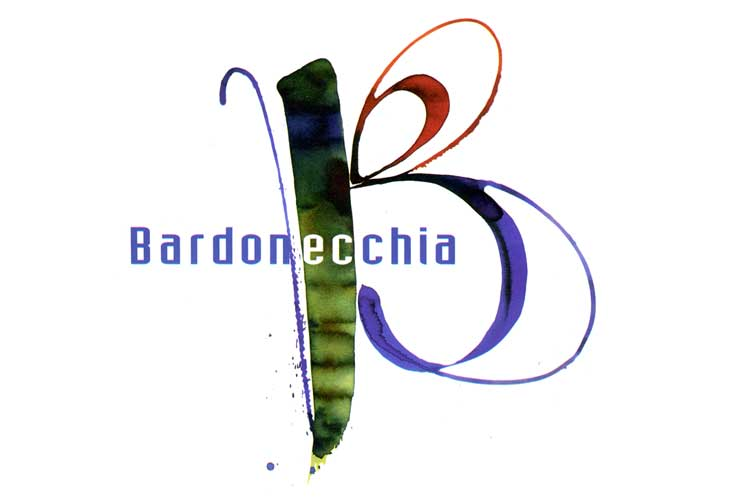 painted lettering for Bardonecchia city logo