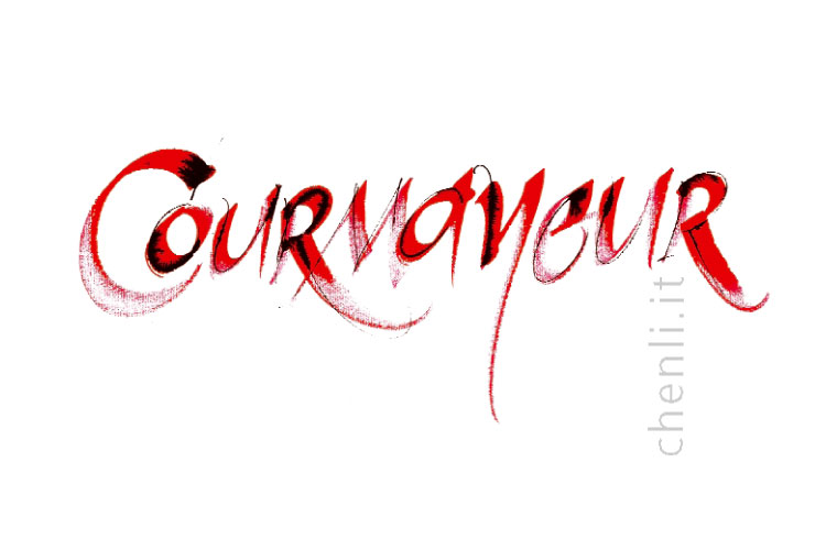 calligraphy for Courmayeur